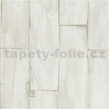 Vliesové tapety na stenu IMPOL drevené hoblované dosky svetlo hnedé
