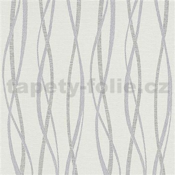 Vliesové tapety na stenu Graphic vlnovky modro-sivé