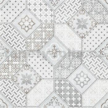 Vliesové tapety na stenu IMPOL Eyecatcher marokánsky vzor sivý