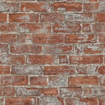 Vliesové tapety na stenu Imitations tehlová stena červená