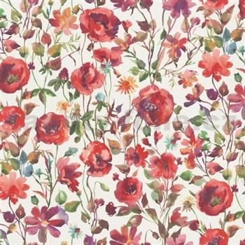 Vliesové tapety na stenu Natural Living vlčie maky červené