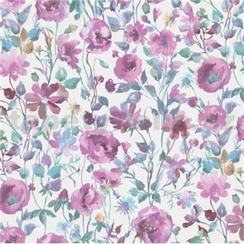 Vliesové tapety na stenu Natural Living vlčie maky fialovo-modré
