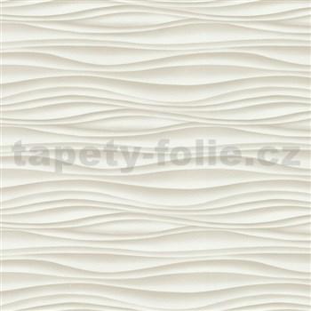 Vliesové tapety na stenu Freestyle vlnovky vodorovné hnedé