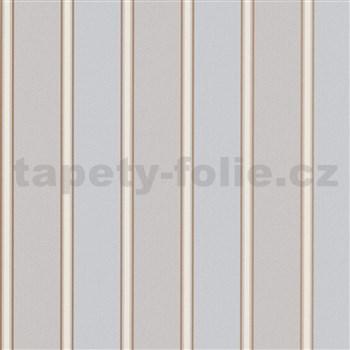 Vliesové tapety na stenu Modern Classics pruhy hnedo-sivé