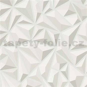 Vliesové tapety na stenu Mix Up 3D jehlany svetlo sivé