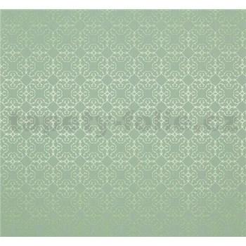 Vliesové tapety Estelle vzor metalický zelený