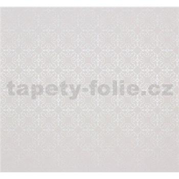 Vliesové tapety Estelle vzor strieborný na bielom podklade