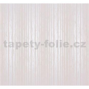 Vliesové tapety Estelle pruhy krémové na metalickom podklade