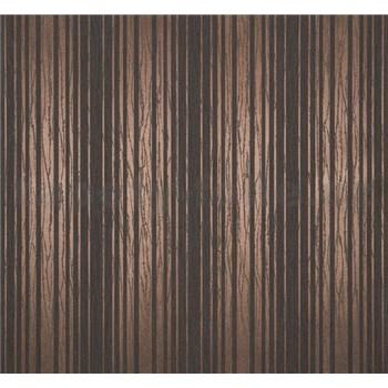 Vliesové tapety Estelle pruhy metalické bronzové