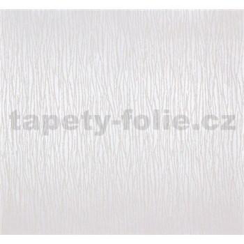 Vliesové tapety Estelle vlnovky biele na metalickom podklade
