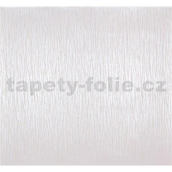 Vliesové tapety Estelle vlnovky krémové na metalickom podklade