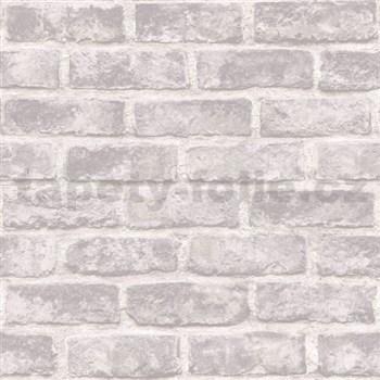 Vliesové tapety na stenu Exposure tehly biele