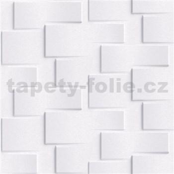 Vliesové tapety na stenu Exposure 3D metalický obklad biely