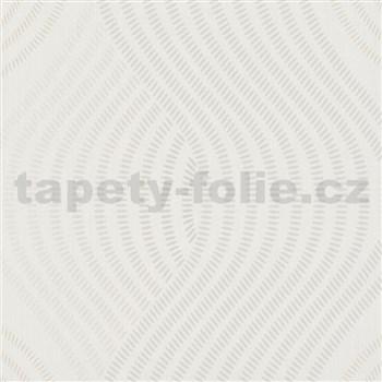 Vliesové tapety na stenu G.M.K. Fashion for walls vlnovky sivé na krémovom podklade