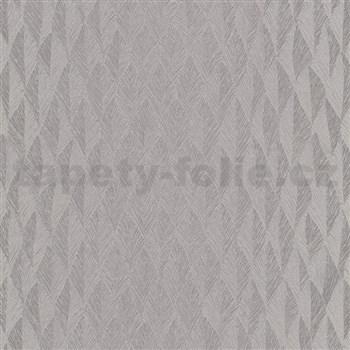 Vliesové tapety na stenu G.M.K. Fashion for walls lístky strieborné s vrúbkovaním