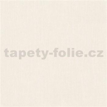 Vliesové tapety na stenu Felicita štruktúrovaná jednofarebná krémová