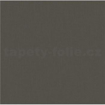 Vliesové tapety na stenu Felicita štruktúrovaná jednofarebná tmavo hnedá
