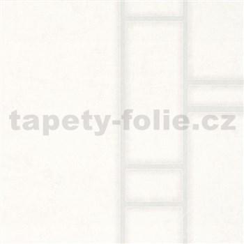 Vliesové tapety na stenu Felicita obdĺžnik krémový so strieborným ohraničením