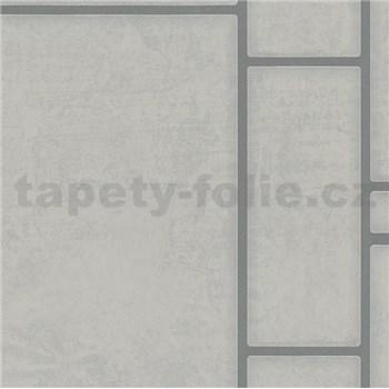 Vliesové tapety na stenu Felicita obdĺžnik sivý so strieborným ohraničením