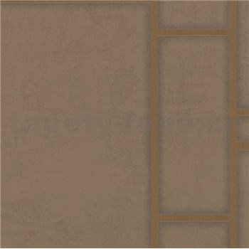 Vliesové tapety na stenu Felicita obdĺžnik hnedý s medeným ohraničením