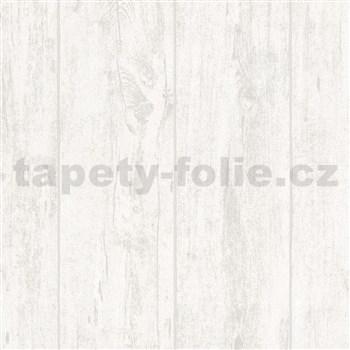 Vliesové tapety na stenu Felicita dosky s výraznou textúrou a perleťovými odleskami bielené