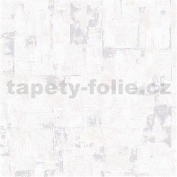 Vliesové tapety IMPOL Finesse stierkovaná omietkovina krémovo biela so striebornými odleskami
