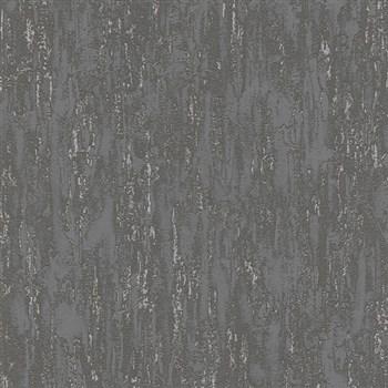Vliesové tapety na stenu IMPOL Finesse vertikálna stierka tmavo sivá so striebornými odleskami