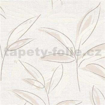 Vliesové tapety na stenu IMPOL Finesse abstraktné listy hnedé