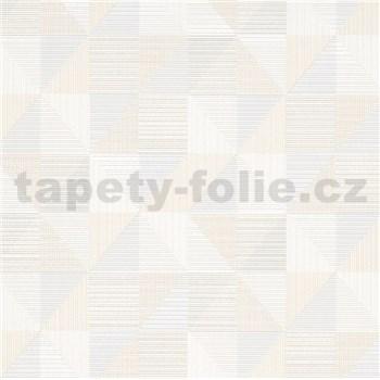Vliesové tapety na stenu IMPOL Finesse trojuholníky sivo-béžové