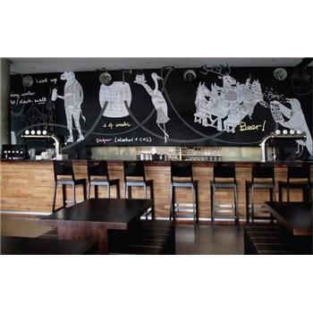Samolepiaca tabuľová fólia čierna - šírka 1,23 m
