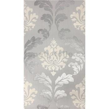 Vliesové tapety Einfach Shöner zámocký vzor strieborno-biely