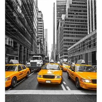 Vliesové fototapety žlté taxíky rozmer 225 cm x 250 cm