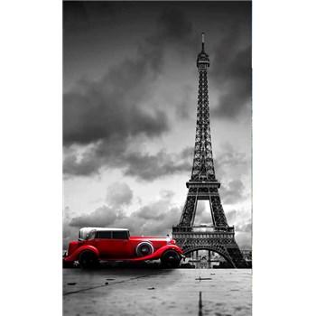 Vliesové fototapety retro auto v Paríži rozmer 150 cm x 250 cm