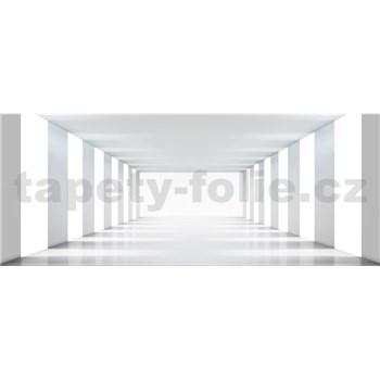 Vliesové fototapety biela chodba rozmer 375 cm x 150 cm