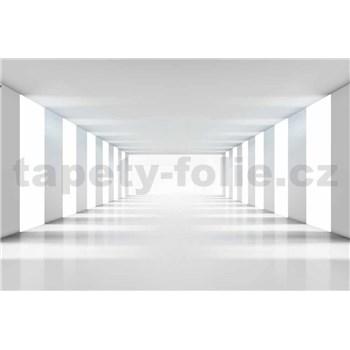 Vliesové fototapety biela chodba rozmer 375 cm x 250 cm