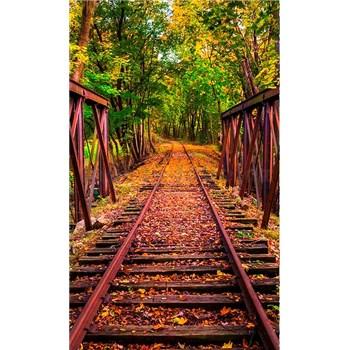 Vliesové fototapety železnica rozmer 150 cm x 250 cm