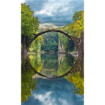 Vliesové fototapety oblúkový most rozmer 150 cm x 250 cm
