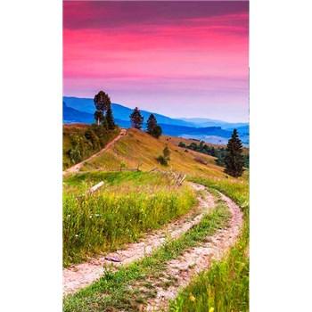 Vliesové fototapety kvitnúce kopce rozmer 150 cm x 250 cm