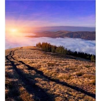 Vliesové fototapety svitanie v horách rozmer 225 cm x 250 cm