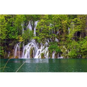 Vliesové fototapety Plitvické jazerá rozmer 375 cm x 250 cm