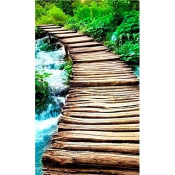 Vliesové fototapety most cez potok rozmer 150 cm x 250 cm