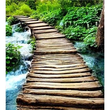 Vliesové fototapety most cez potok rozmer 225 cm x 250 cm