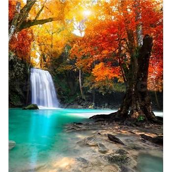 Vliesové fototapety lesný vodopád rozmer 225 cm x 250 cm