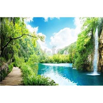 Vliesové fototapety vodopády v lese rozmer 375 cm x 250 cm