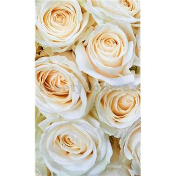 Vliesové fototapety biele ruže rozmer 150 cm x 250 cm