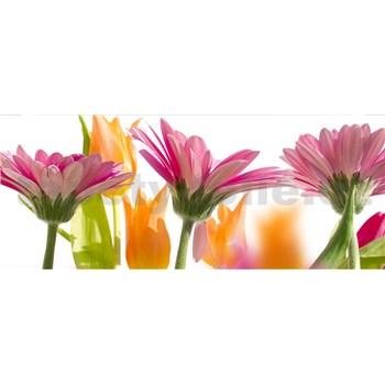 Vliesové fototapety jarné kvety rozmer 375 cm x 150 cm