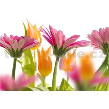 Vliesové fototapety jarné kvety rozmer 375 cm x 250 cm