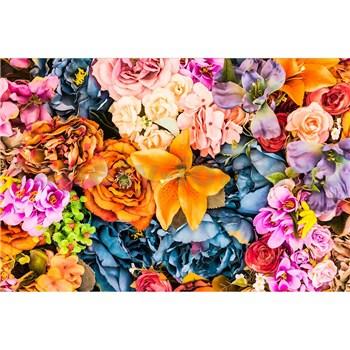 Vliesové fototapety vintage kvety rozmer 375 cm x 250 cm