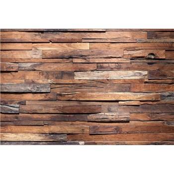 Vliesové fototapety drevená stena rozmer 375 cm x 250 cm