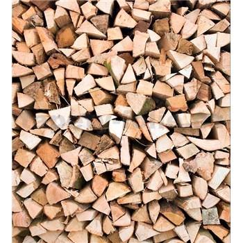 Vliesové fototapety drevené kláty rozmer 225 cm x 250 cm
